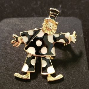 VINTAGE♥️Cute Clown BROOCH